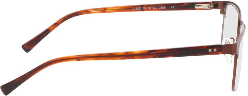 Picture of glasses model Gemino-matt braun  in angle 90