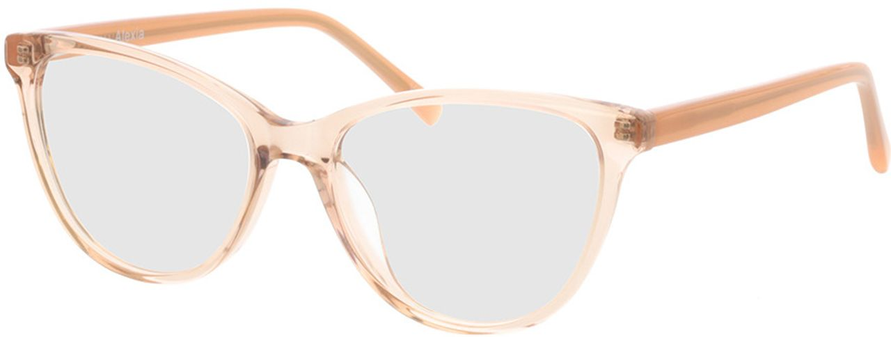 Picture of glasses model Alexia-braun-transparent in angle 330