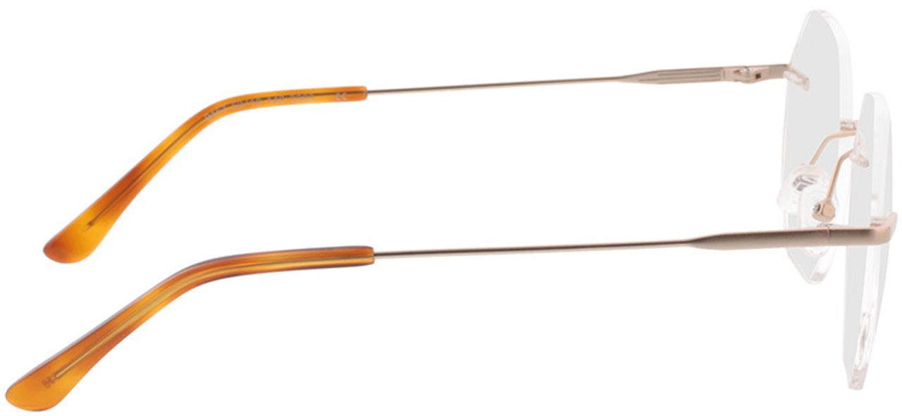 Picture of glasses model Ebro-gold in angle 90