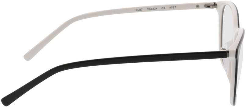 Picture of glasses model Lakeside-noir/blanc in angle 90
