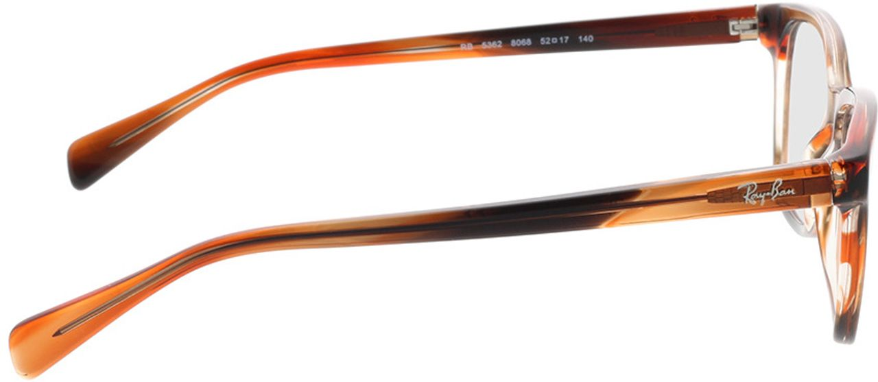 Picture of glasses model Ray-Ban RX5362 8068 52-17 in angle 90