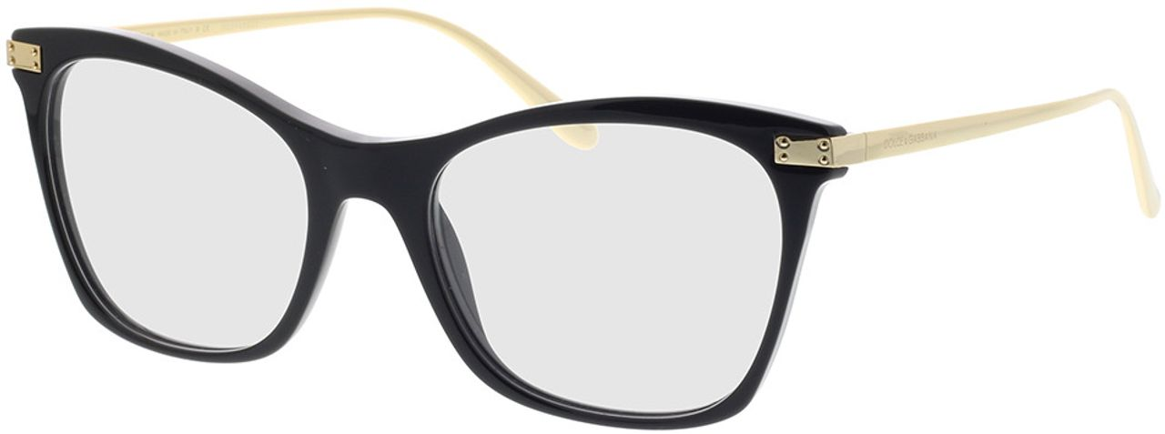 Picture of glasses model Dolce&Gabbana DG3331 501 52-18 in angle 330