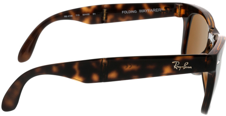 Picture of glasses model Ray-Ban Folding Wayfarer RB4105 710 50-21 in angle 90