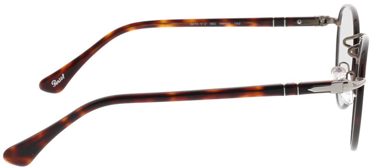 Picture of glasses model Persol PO2410VJ 992 49-20 in angle 90