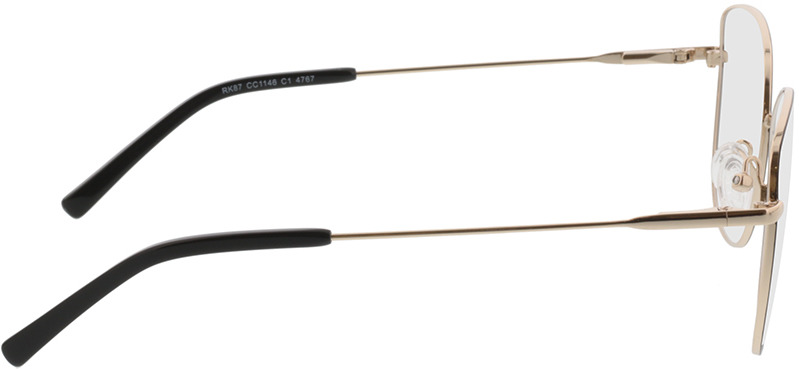 Picture of glasses model Winona-schwarz/gold in angle 90