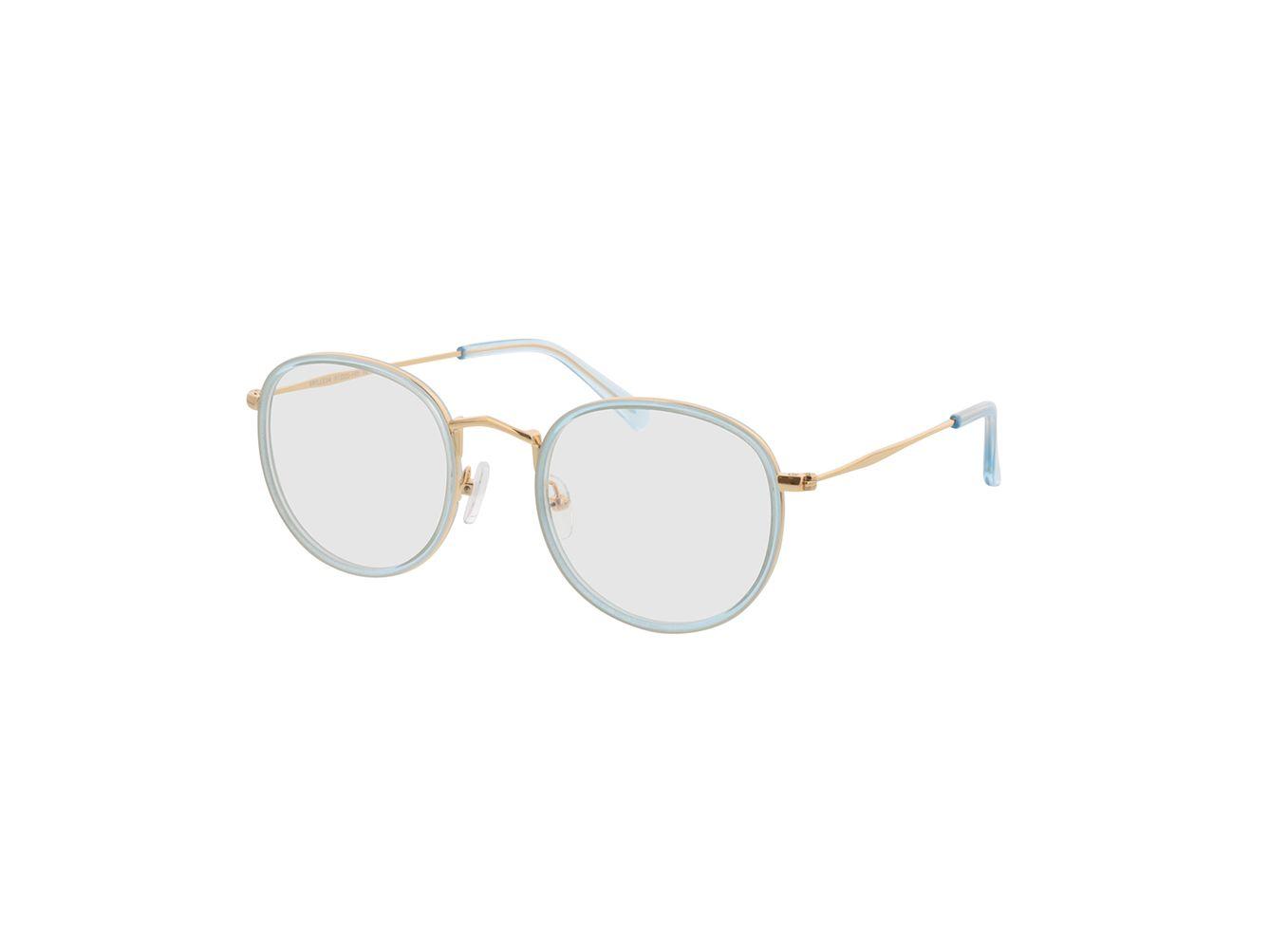 4742-singlevision-0000 Gilbritt-türkis/gold Gleitsichtbrille, Vollrand, Rund Brille24 Collection