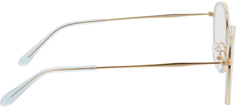 Picture of glasses model Gilbritt-türkis/gold in angle 90