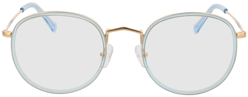 Picture of glasses model Gilbritt-türkis/gold in angle 0