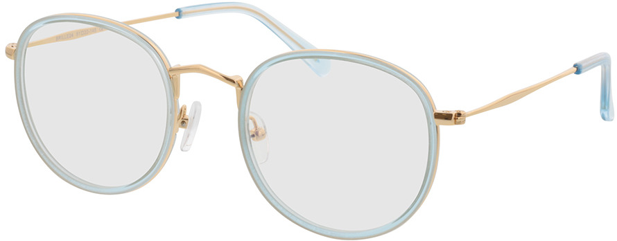 Picture of glasses model Gilbritt-türkis/gold in angle 330