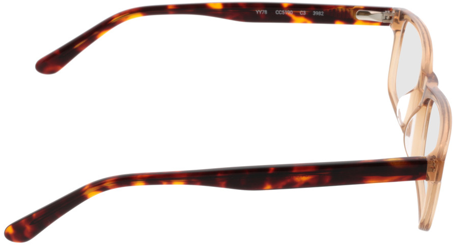 Picture of glasses model Hastings lightbrown-transparent in angle 90