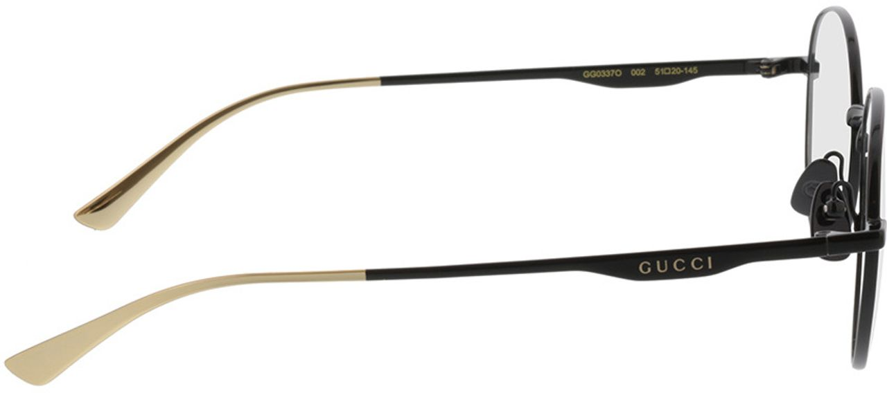 Picture of glasses model Gucci GG0337O-002 51-20 in angle 90