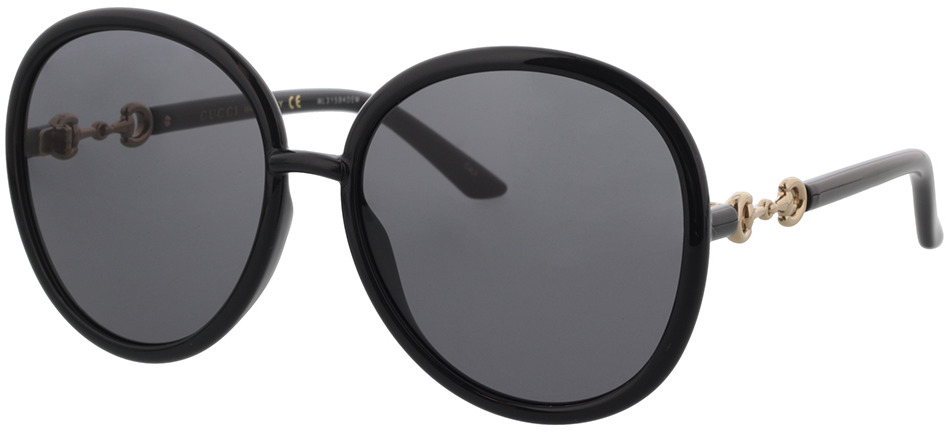 Picture of glasses model Gucci GG0889S-001 61-18 in angle 330