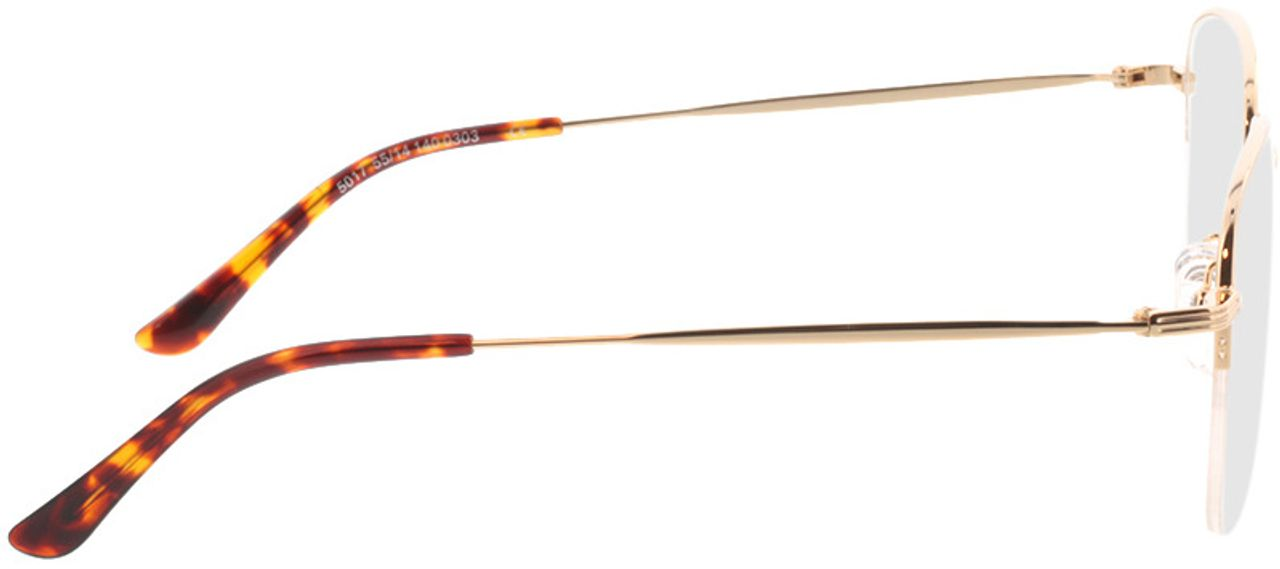 Picture of glasses model Tripoli-gold in angle 90