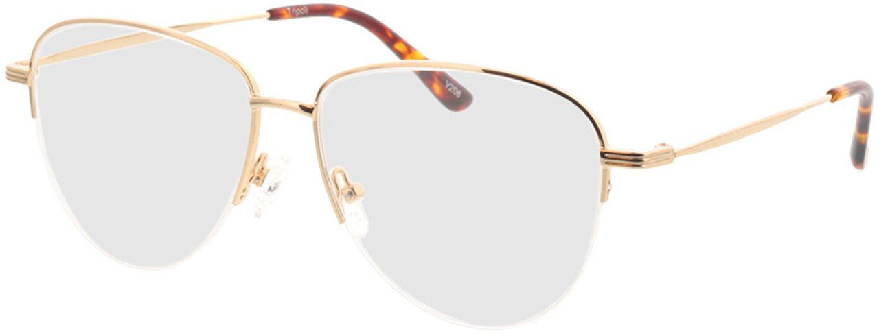 Picture of glasses model Tripoli-gold in angle 330
