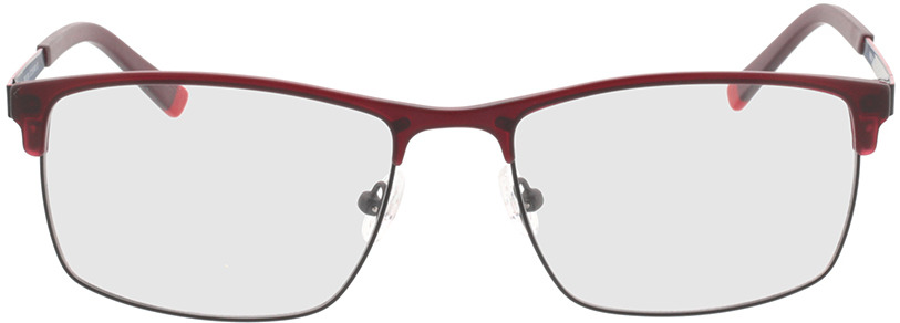 Picture of glasses model Longford rood in angle 0