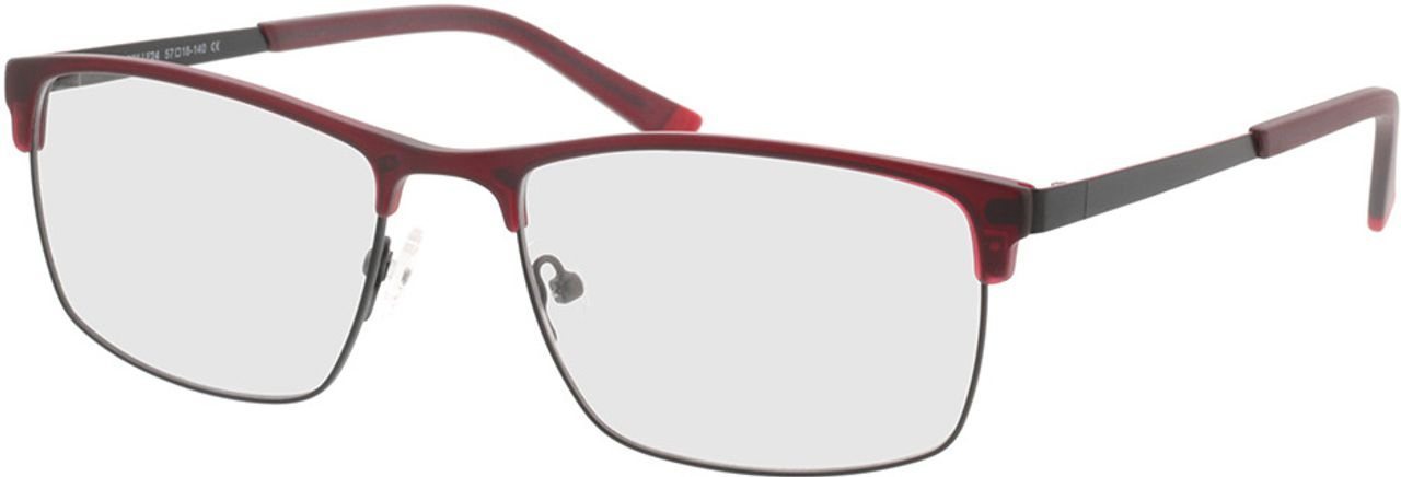 Picture of glasses model Longford-red in angle 330