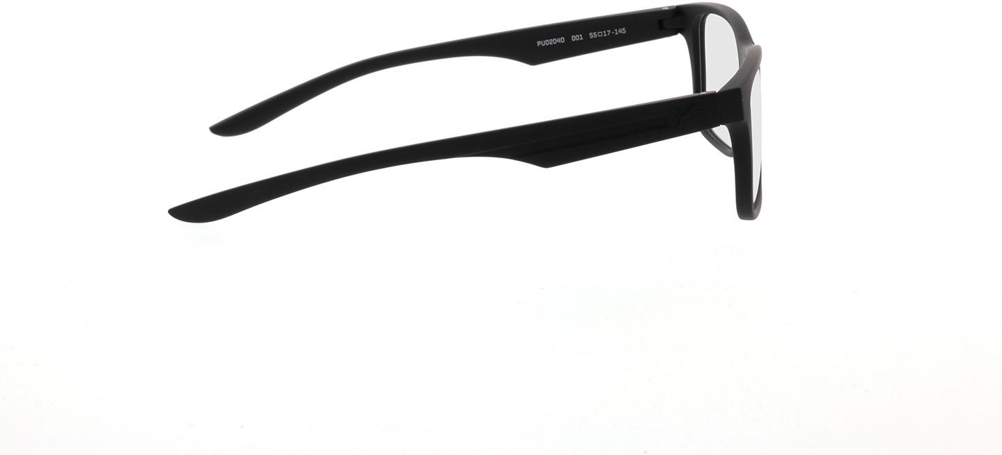 Picture of glasses model Puma PU0204O-001 55-17 in angle 90