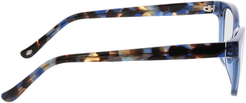 Picture of glasses model Tonia-transparent blau in angle 90
