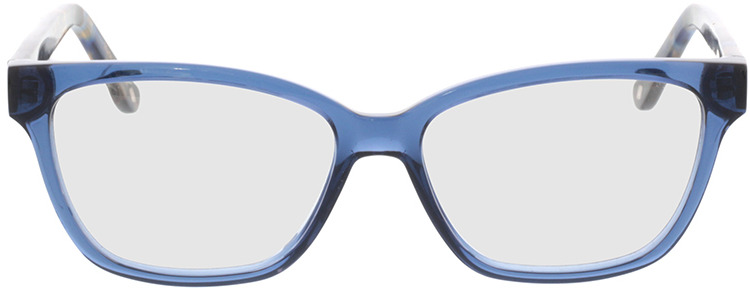 Picture of glasses model Tonia-transparent blau in angle 0