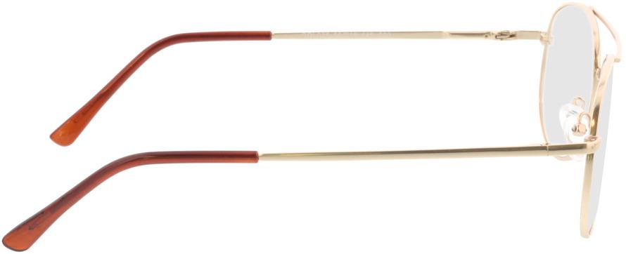 Picture of glasses model Amelio-matt gold in angle 90