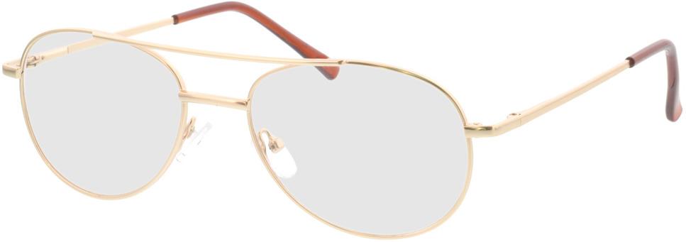 Picture of glasses model Amelio-matt gold in angle 330