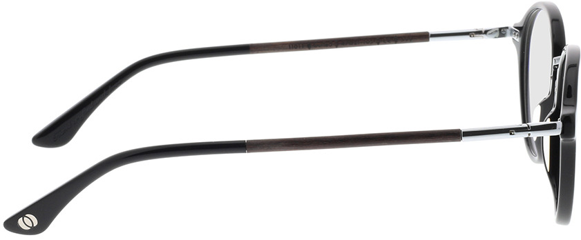 Picture of glasses model Wood Fellas Optical Löwenburg curled/black 47-21 in angle 90