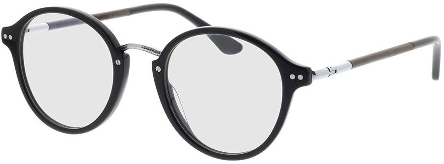 Picture of glasses model Wood Fellas Optical Löwenburg curled/black 47-21 in angle 330