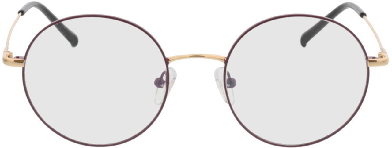 Picture of glasses model Circle purple/gold in angle 0