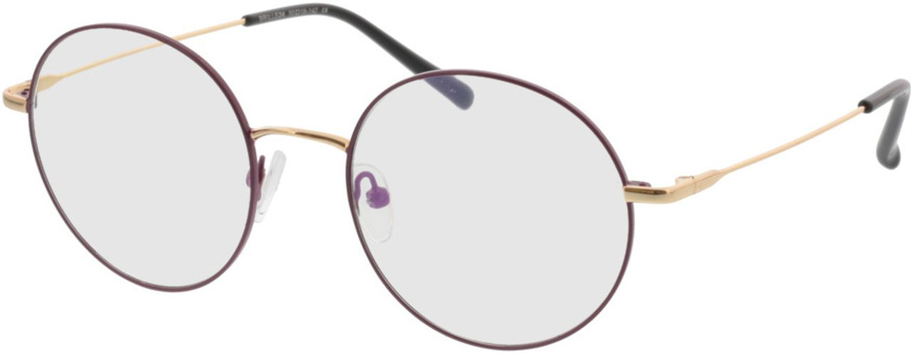 Picture of glasses model Circle purple/gold in angle 330