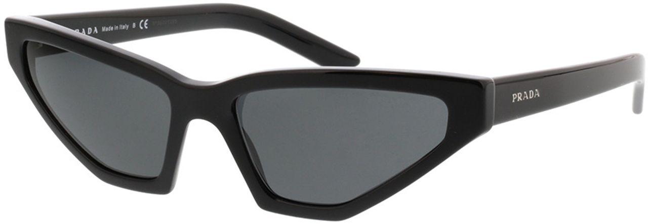 Picture of glasses model Prada PR 12VS 1AB5S0 57-16 in angle 330