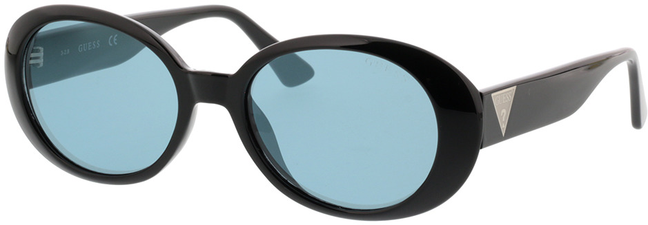 Picture of glasses model Guess GU7590 01X 54-18 in angle 330