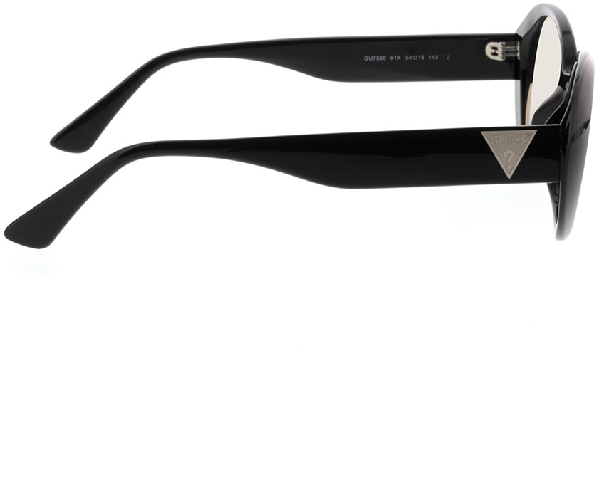 Picture of glasses model Guess GU7590 01X 54-18 in angle 90