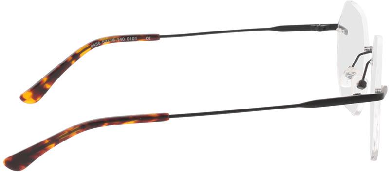 Picture of glasses model Ebro-schwarz in angle 90