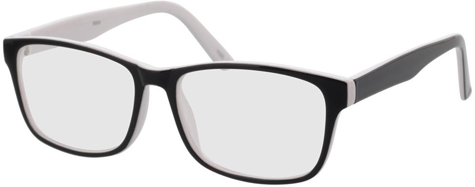 Picture of glasses model Nitro Zwart/white in angle 330