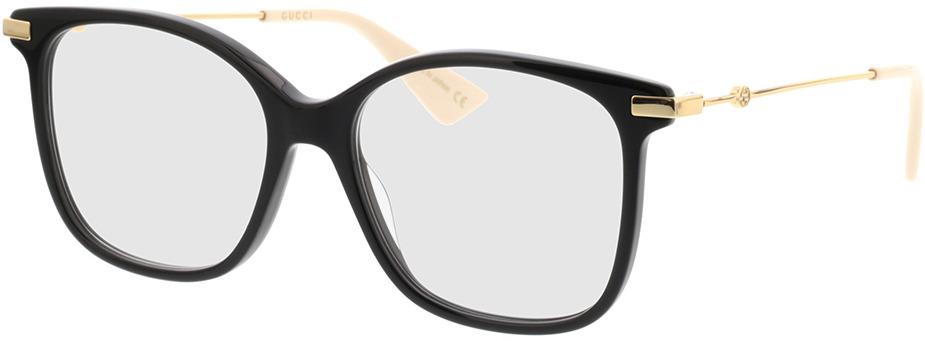 Picture of glasses model Gucci GG0512O-001 52-16 in angle 330