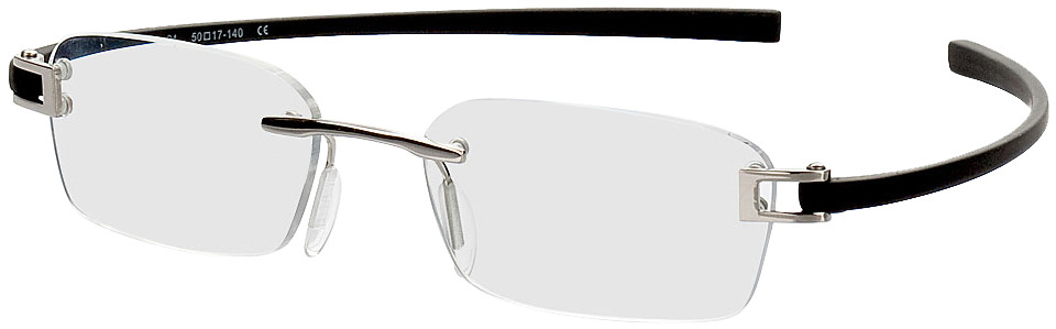 Picture of glasses model Wellington zilver/zwart in angle 330