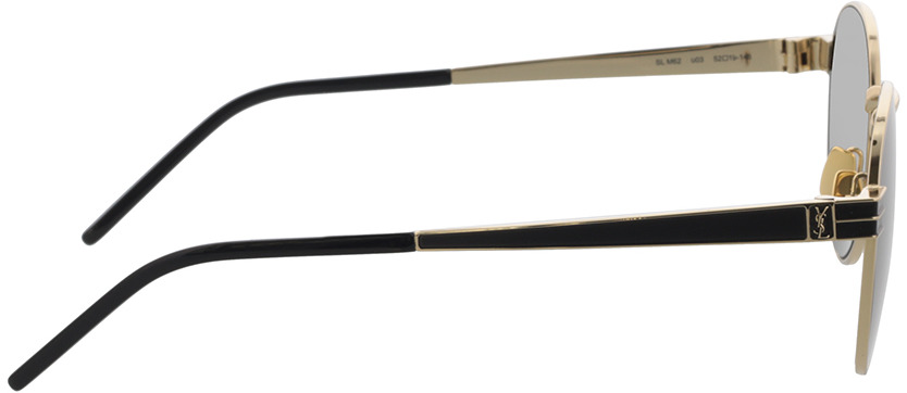 Picture of glasses model Saint Laurent SL M62-003 52-19 in angle 90
