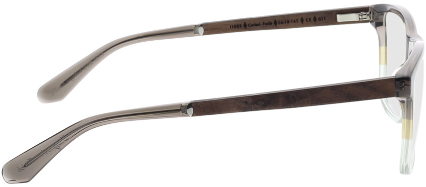 Picture of glasses model Wood Fellas Optical Wildenwart curled/fade brw 56-18 in angle 90