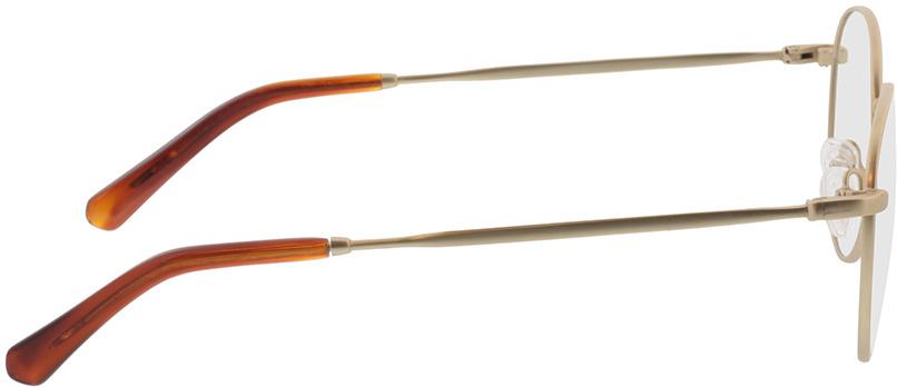 Picture of glasses model Vanda-matt gold in angle 90
