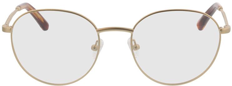 Picture of glasses model Vanda-matt gold in angle 0