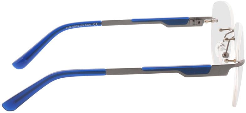 Picture of glasses model Tangari-matt anthrazit/blau in angle 90