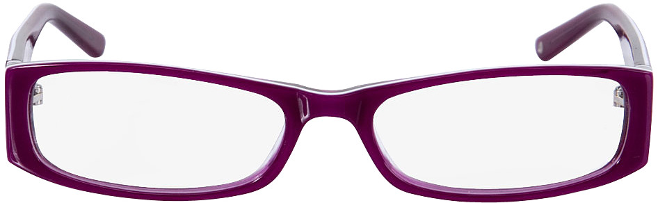 Picture of glasses model Florence roxo/branco in angle 0