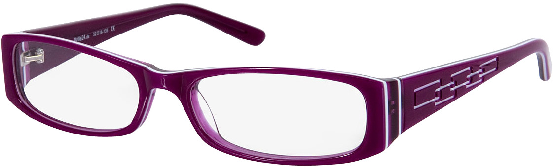 Picture of glasses model Florence roxo/branco in angle 330