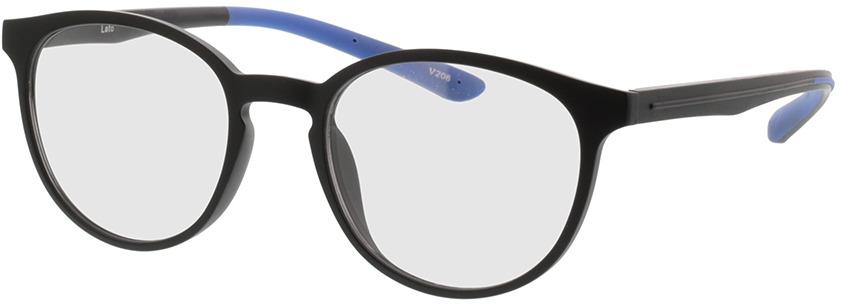 Picture of glasses model Lato-matt schwarz in angle 330