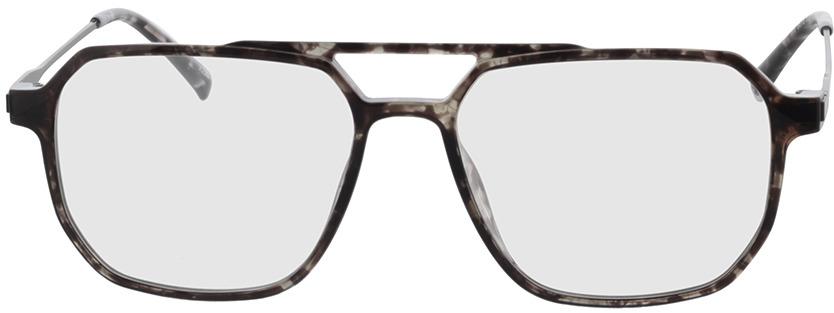 Picture of glasses model Brady-grau-meliert/matt schwarz in angle 0