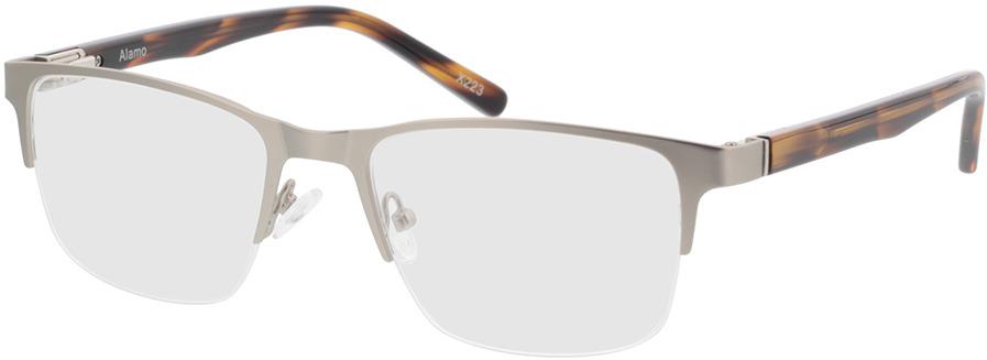Picture of glasses model Alamo-matt silber/braun-meliert in angle 330