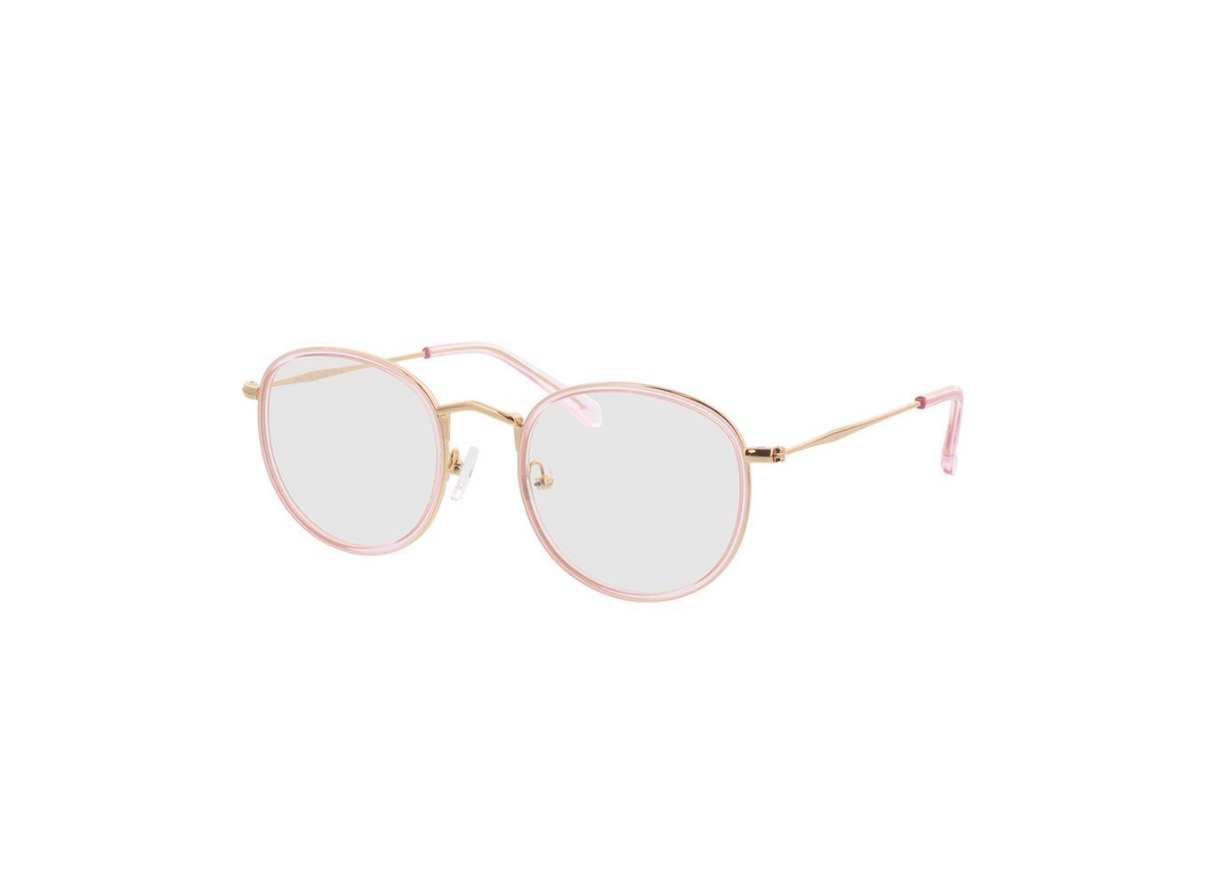 4741-singlevision-0000 Gilbritt-rosa/gold Gleitsichtbrille, Vollrand, Rund Brille24 Collection