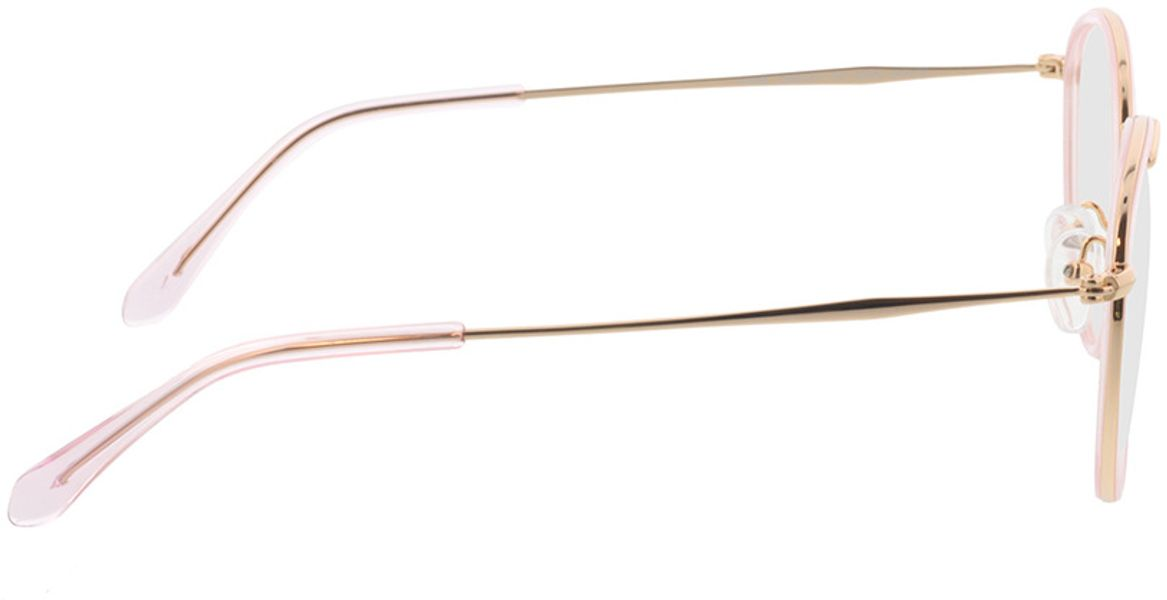 Picture of glasses model Gilbritt-rosa/gold in angle 90
