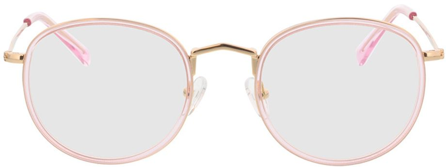 Picture of glasses model Gilbritt-rosa/gold in angle 0