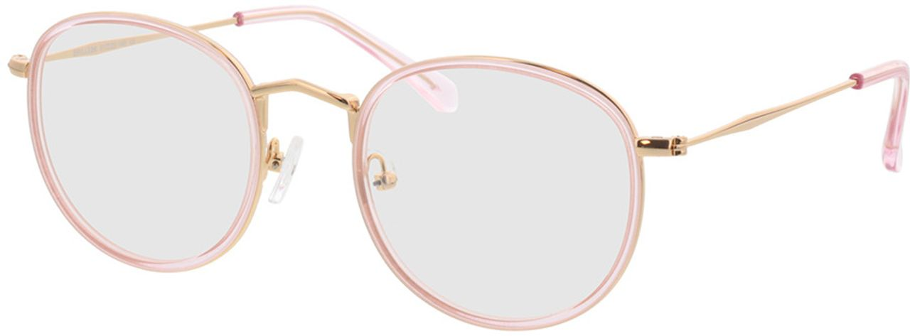 Picture of glasses model Gilbritt-rosa/gold in angle 330